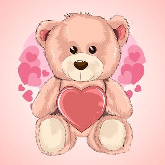 Valentinstag teddy bear liebesherz