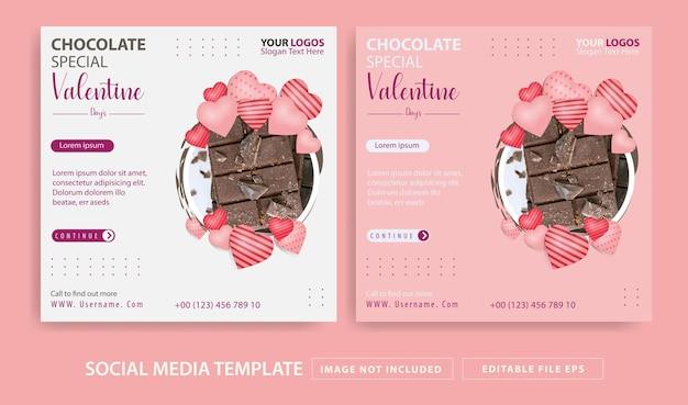 Valentinstag thema social media post vorlage