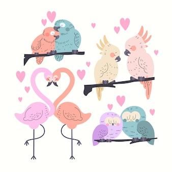 Valentinstag tier paar sammlung