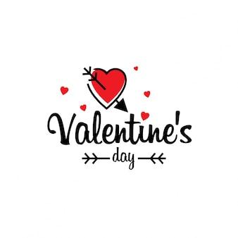 Valentinstag typografisch