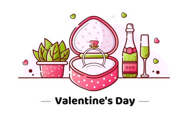 Valentinstag und hochzeit