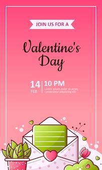 Valentinstag und hochzeitsflyer