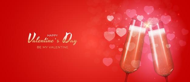 Valentinstag urlaub banner design.