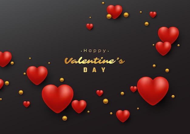 Valentinstag urlaub mit 3d herzen.