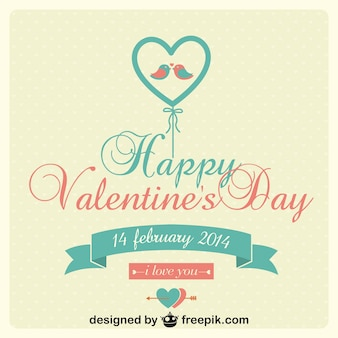 Valentinstag-vektor-karte ballon turteltauben