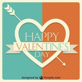Valentinstag-vektor-karte herz-design