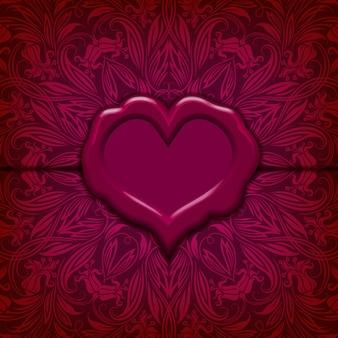 Valentinstag-vektorhintergrund.