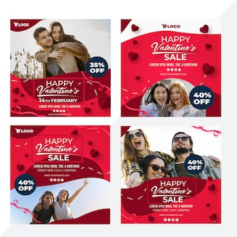 Valentinstag verkäufe instagram beiträge