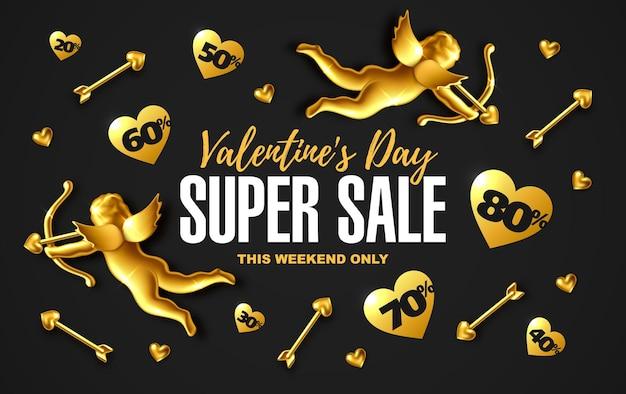 Valentinstag verkauf banner design