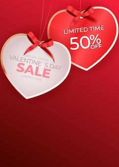 Valentinstag verkauf banner hintergrund design