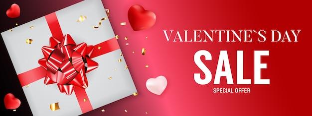 Valentinstag verkauf banner hintergrund