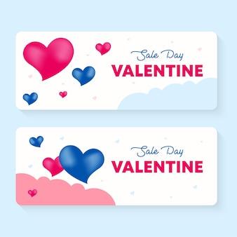 Valentinstag verkauf banner vorlage