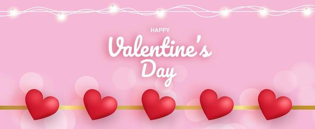 Valentinstag verkauf banner.