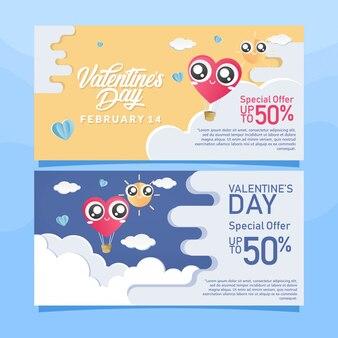 Valentinstag-verkauf-banner