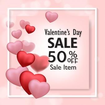 Valentinstag verkauf flyer vorlage