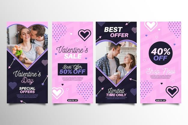 Valentinstag verkauf geschichten sammlung