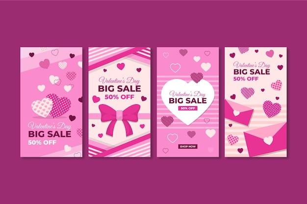 Valentinstag verkauf instagram geschichten sammlung