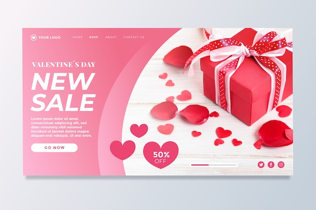 Valentinstag verkauf landingpage