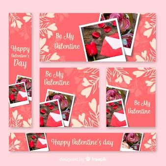 Valentinstag verkauf web banner