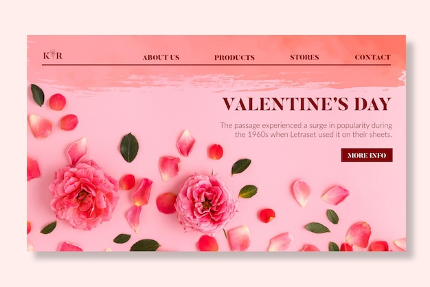 Valentinstag-verkaufs-landingpage