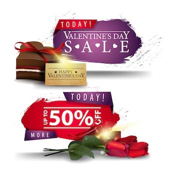 Valentinstag-verkaufsfahnen