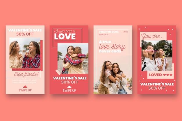 Valentinstag verkaufsgeschichte mit rabatt gesetzt