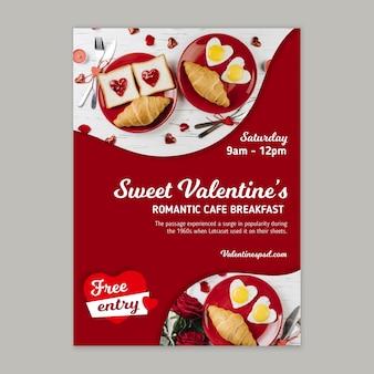 Valentinstag-verkaufsplakatschablone Kostenlosen Vektoren
