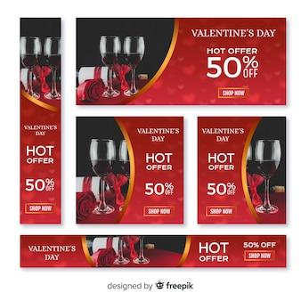 Valentinstag-web-banner collectio