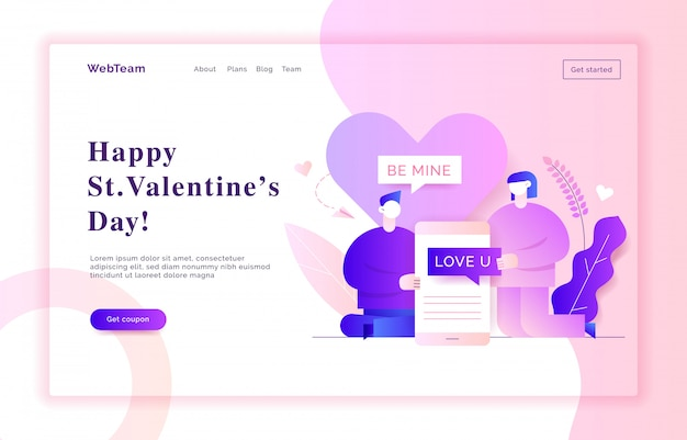 Valentinstag-web-banner-illustration