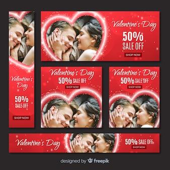 Valentinstag-web-banner mit foto