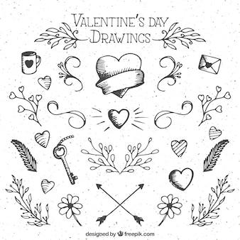 Valentinstag zeichnungen Kostenlosen Vektoren