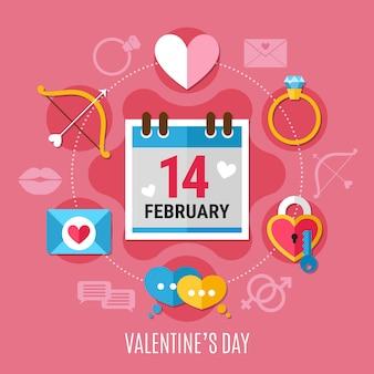 Valentinstag zusammensetzung