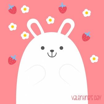 Valentinstagfahne, hintergrund, flieger, plakat mit niedlichen tieren. feiertagsplakat für das scrapbooking.