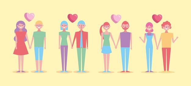 Valentinstagfeier mit liebhaberpaargruppe