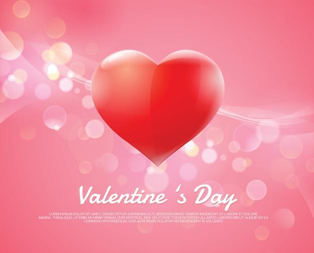 Valentinstagherz bokeh hintergrund