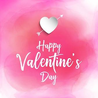 Valentinstaghintergrund mit aquarellbeschaffenheit