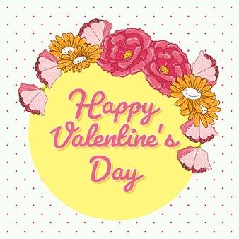 Valentinstaghintergrund mit blumenweinlese.