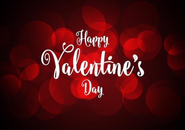 Valentinstaghintergrund mit bokeh lichtern
