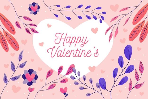 Valentinstaghintergrund mit bunten blättern