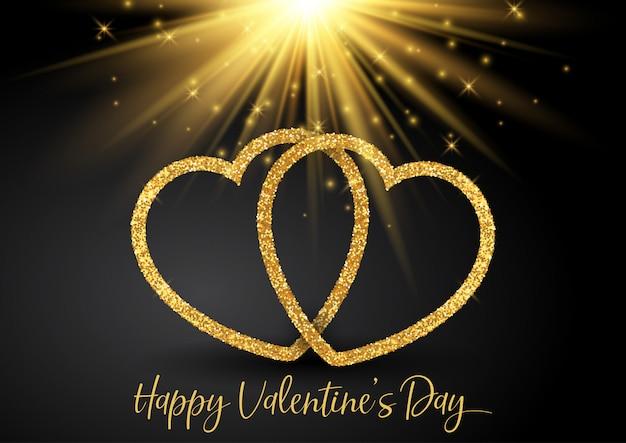 Valentinstaghintergrund mit glittery herzen