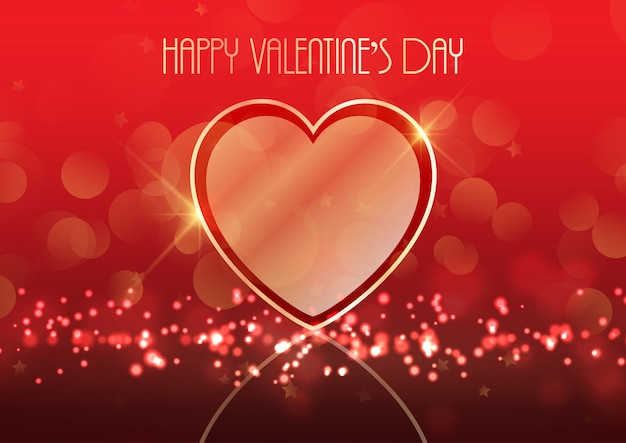 Valentinstaghintergrund mit goldinnerem