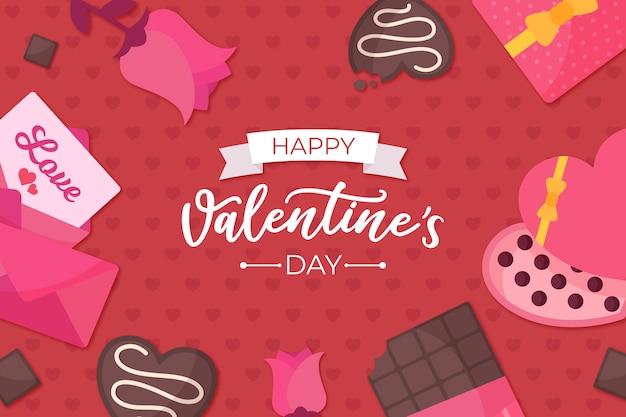 Valentinstaghintergrund mit gruß