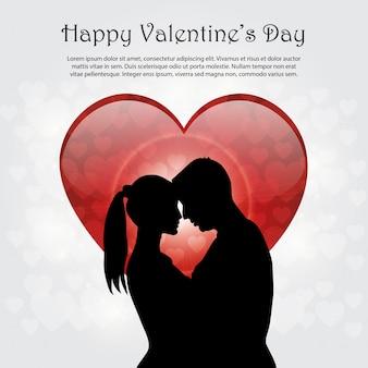 Valentinstaghintergrund mit paaren