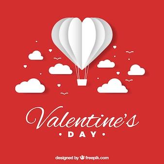 Valentinstaghintergrund mit papierherzen