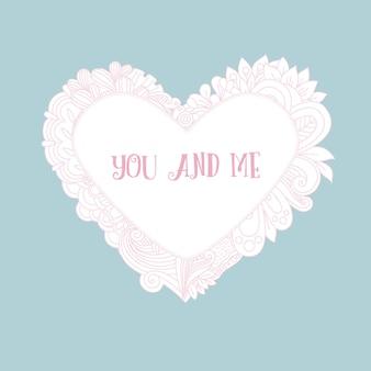 Valentinstagkarte mit blumenherz