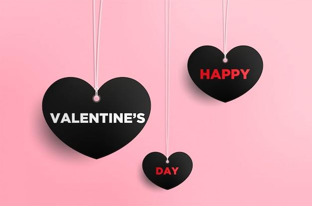 Valentinstagkarte mit herzen und platz für ihren text