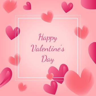 Valentinstagkarte, plakat, fahnendesign mit herzformen. vektor-illustration