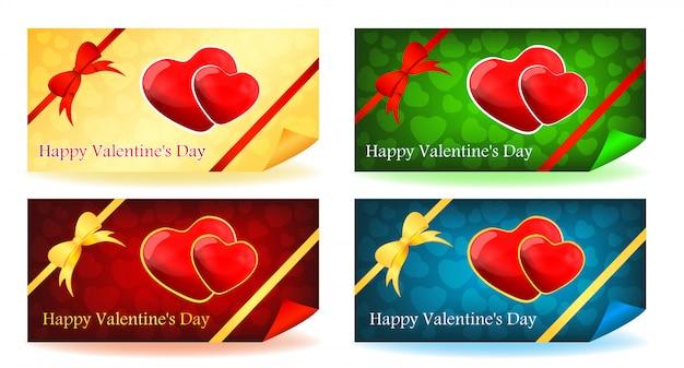 Valentinstagkarten eingestellt