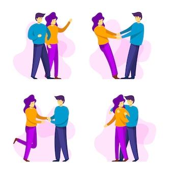 Valentinstagpaare, die zusammen sammlung sind
