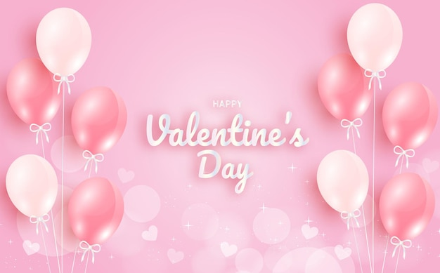 Valentinstagsgruß mit luftballons